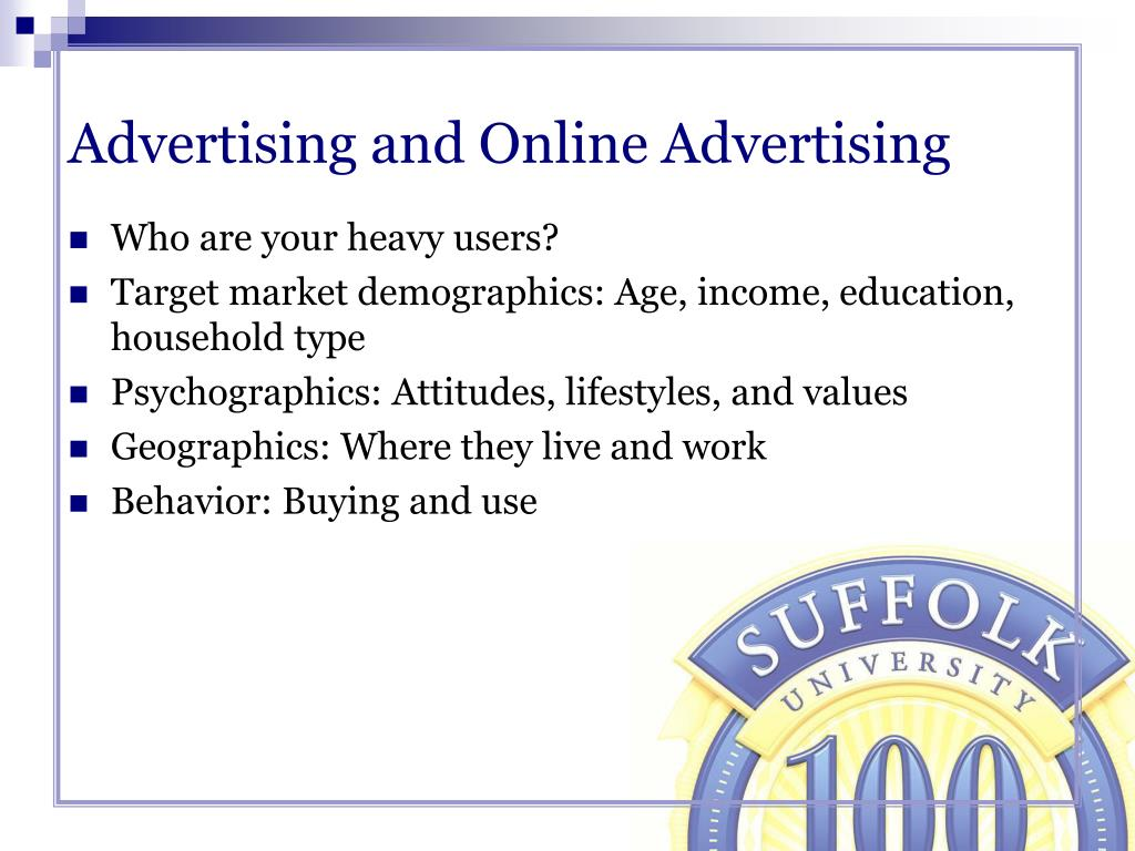 Advertising and Online Advertising