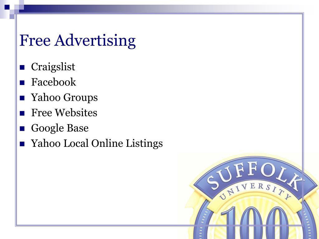 Free Advertising