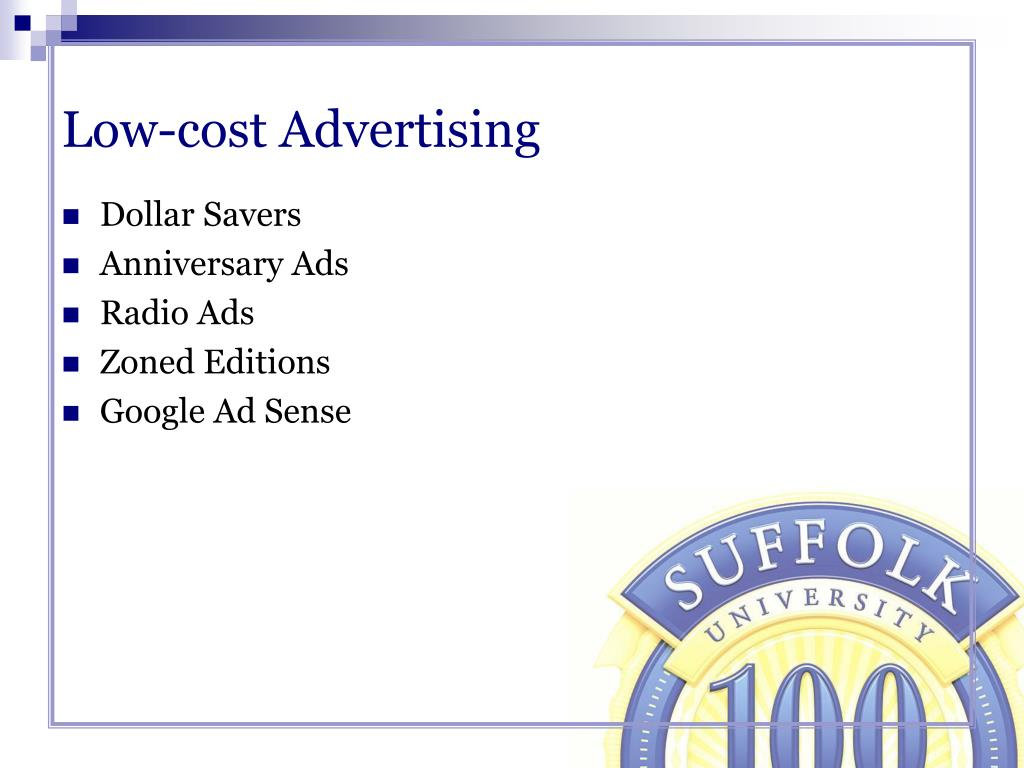 Low-cost Advertising