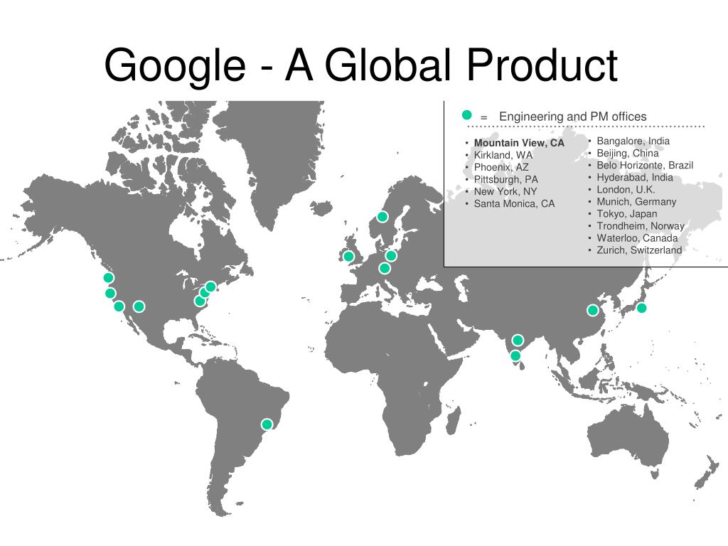 Google - A Global Product