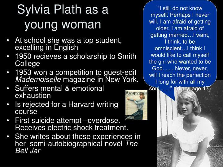 Sylvia plath as a young woman
