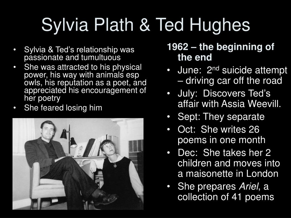 Sylvia & Ted's relationship was passionate and tumultuous