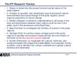 the ipy research themes