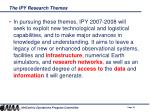 the ipy research themes18