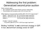 addressing the first problem generalized second price auction25
