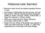 historical note banners