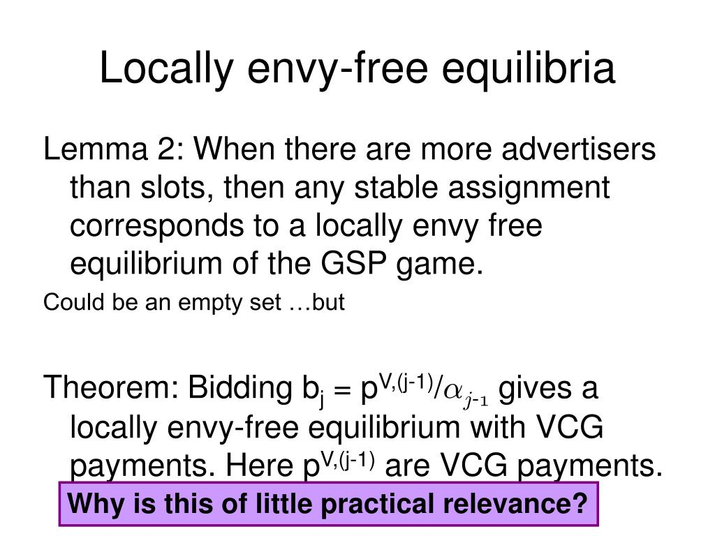 Locally envy-free equilibria