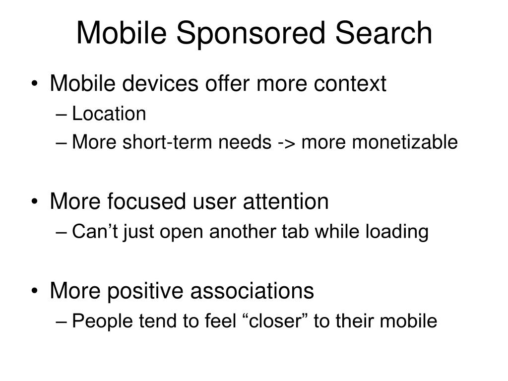 Mobile Sponsored Search