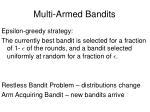multi armed bandits42
