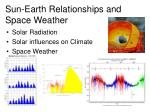 sun earth relationships and space weather