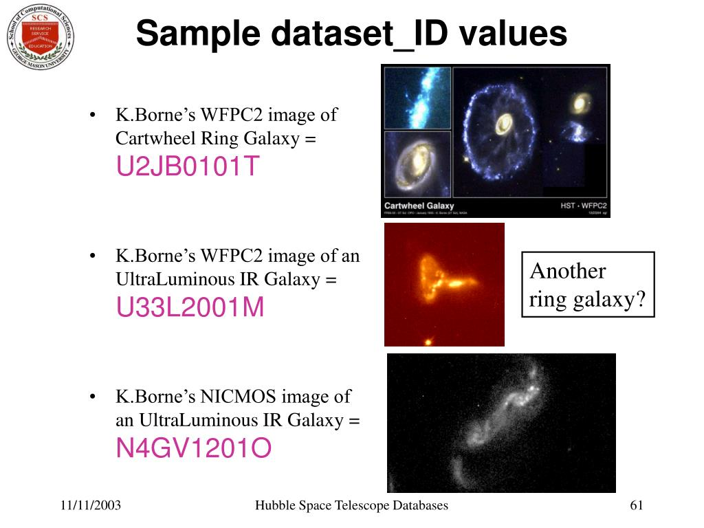 Sample dataset_ID values