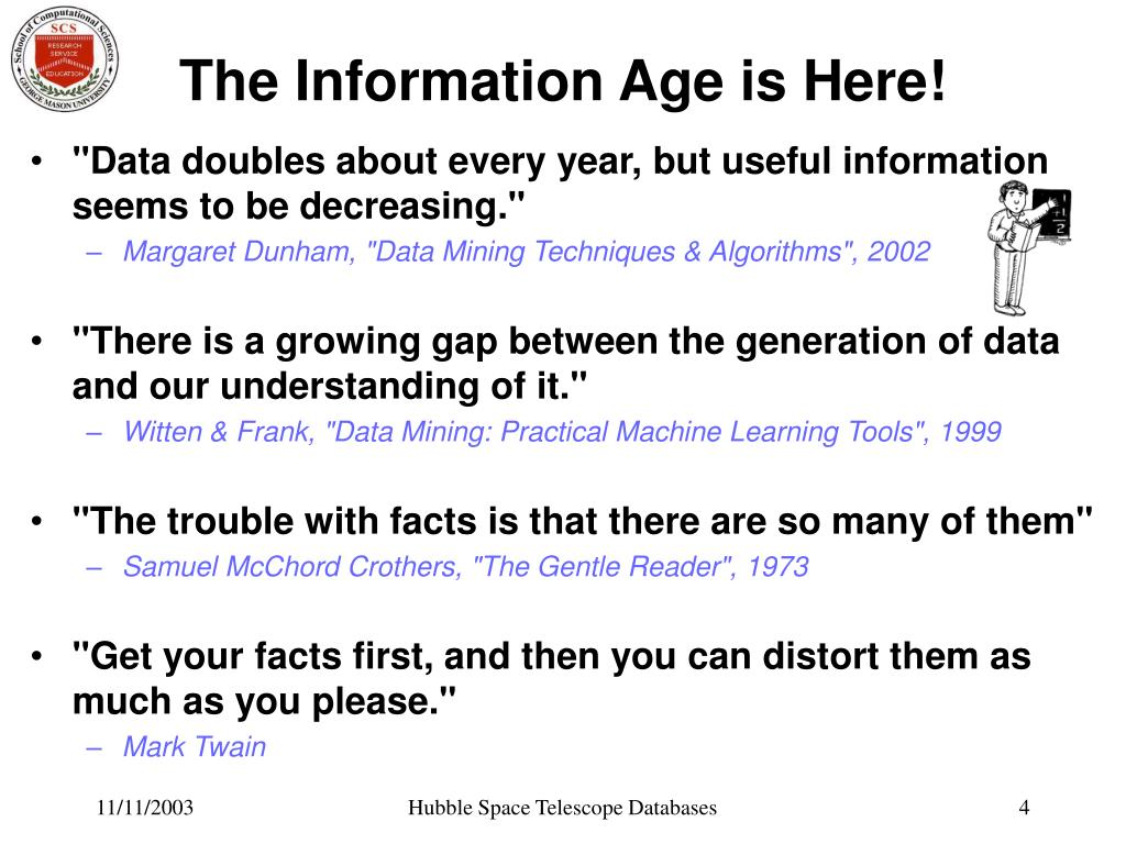 The Information Age is Here!