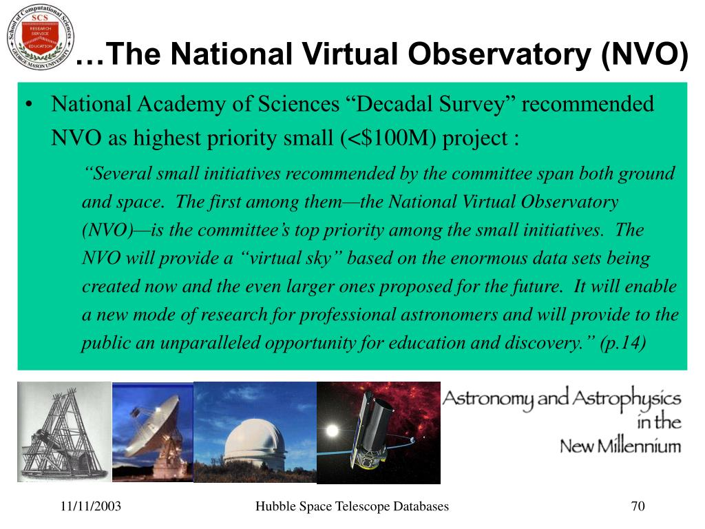…The National Virtual Observatory (NVO)