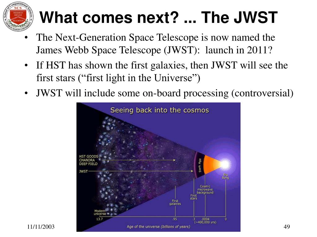What comes next? ... The JWST
