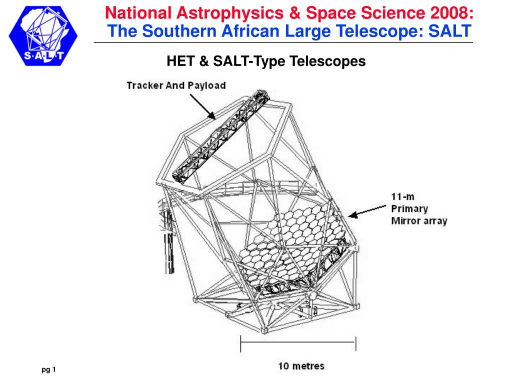 het salt type telescopes l.