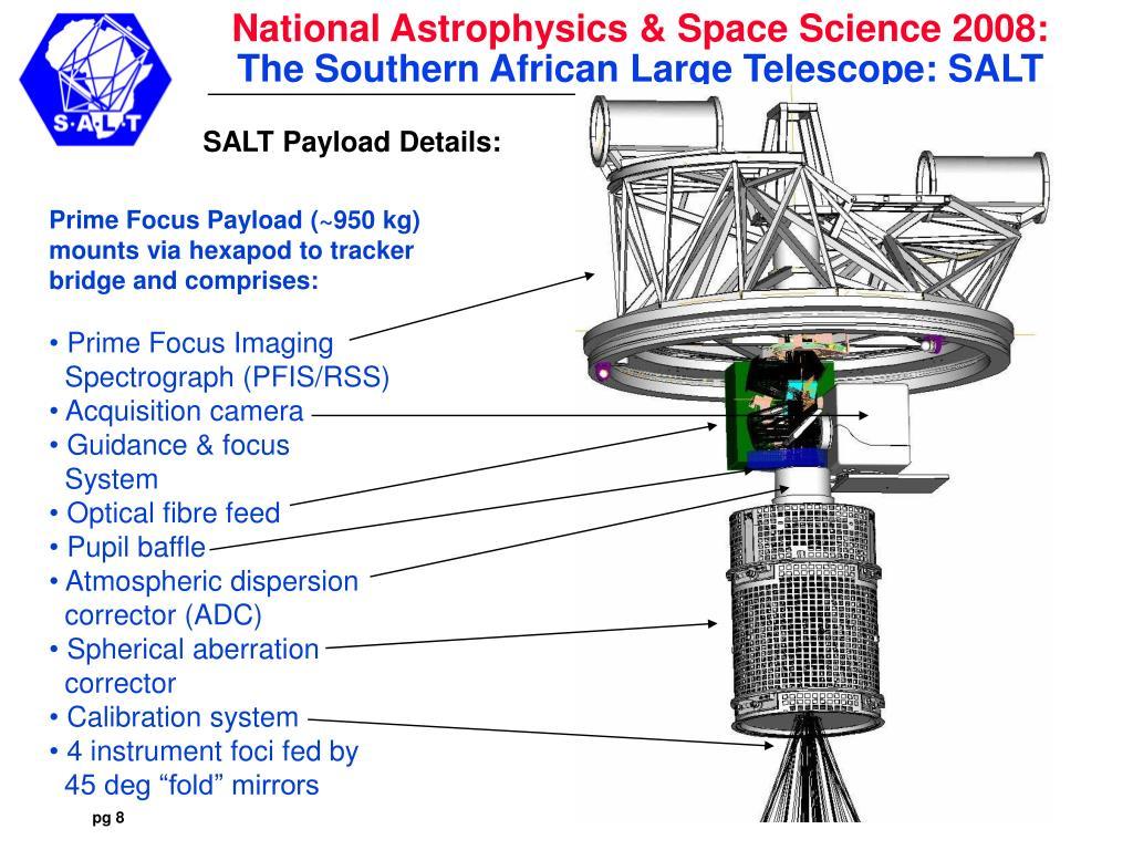 SALT Payload Details:
