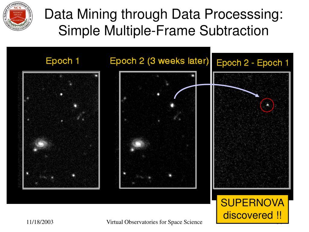 Data Mining through Data Processsing: