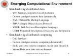 emerging computational environment