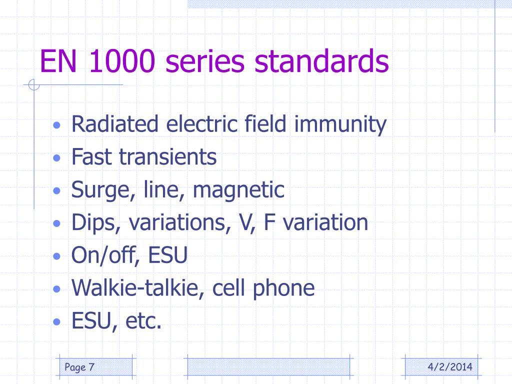 EN 1000 series standards