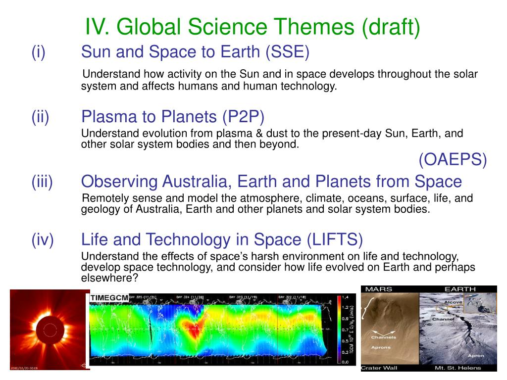 IV. Global Science Themes (draft)
