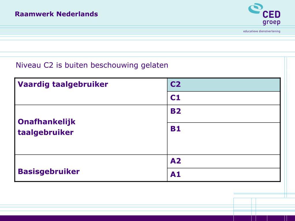 Raamwerk Nederlands