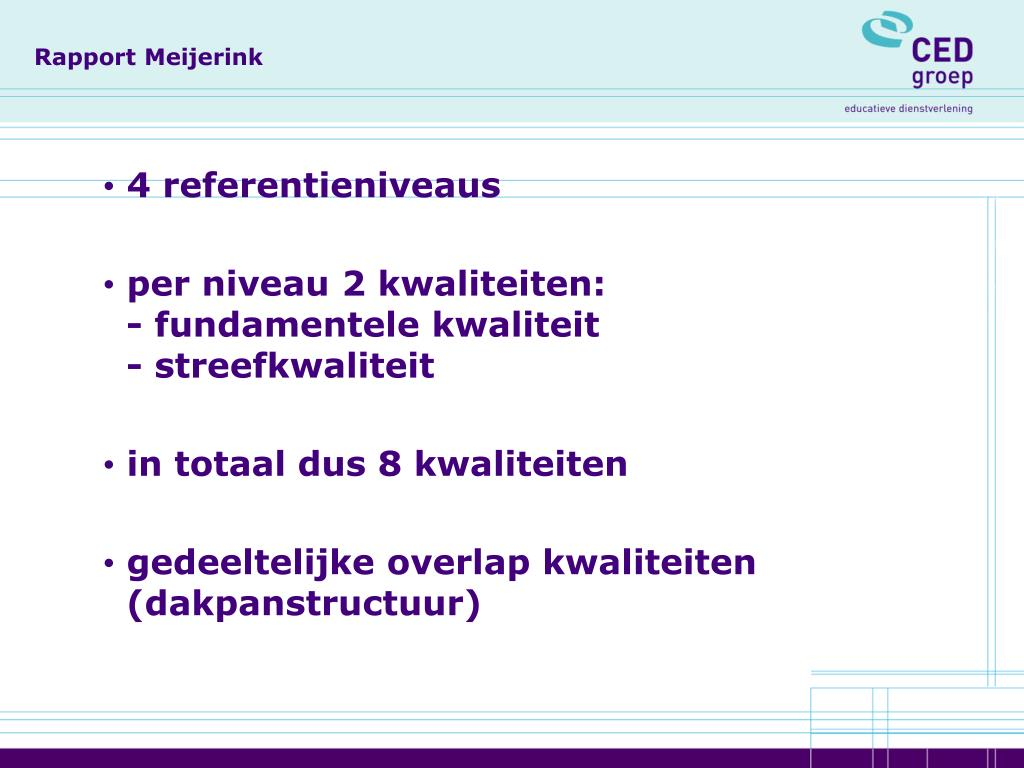 Rapport Meijerink