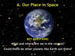 a our place in space