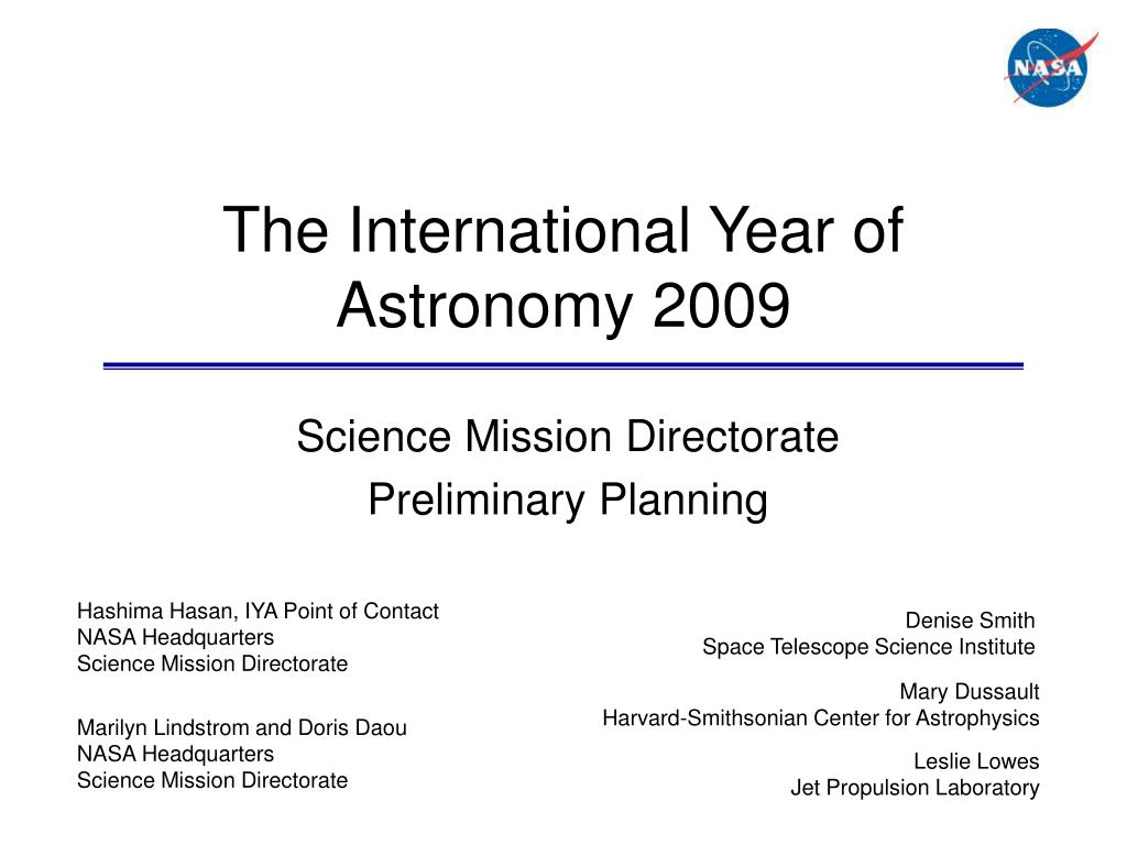 the international year of astronomy 2009 l.