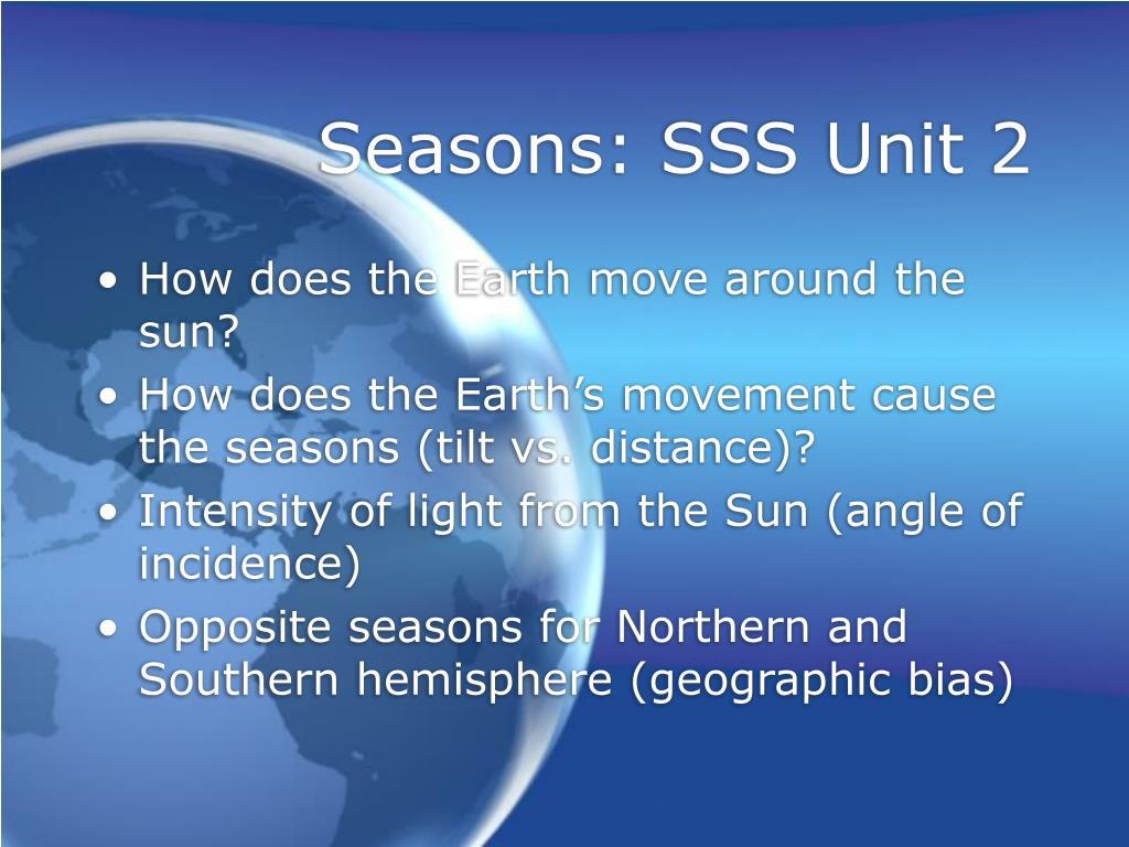 Seasons: SSS Unit 2