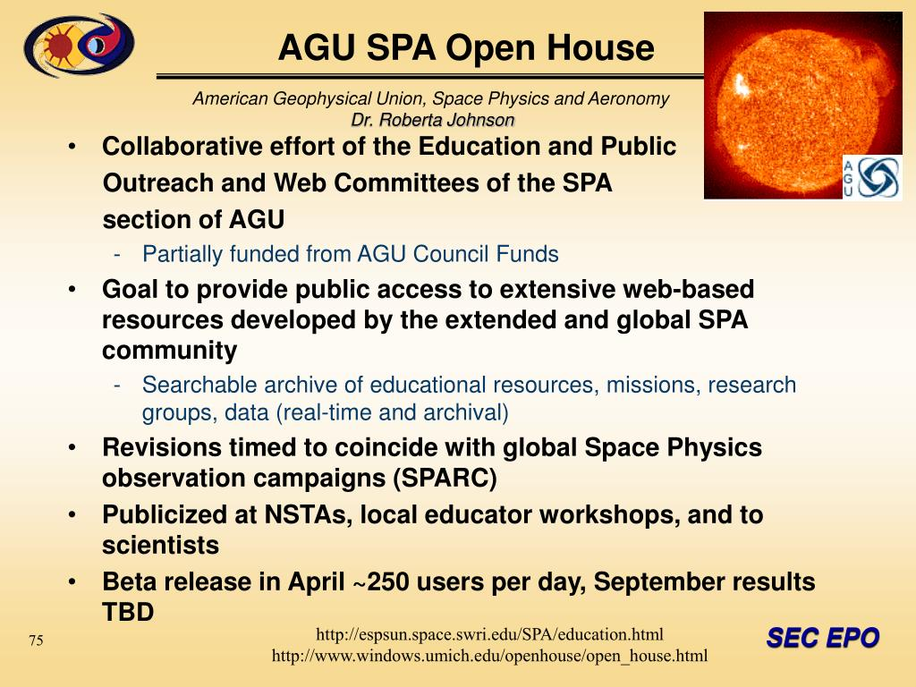 AGU SPA Open House