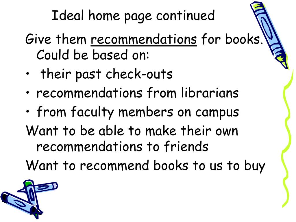 Ideal home page continued