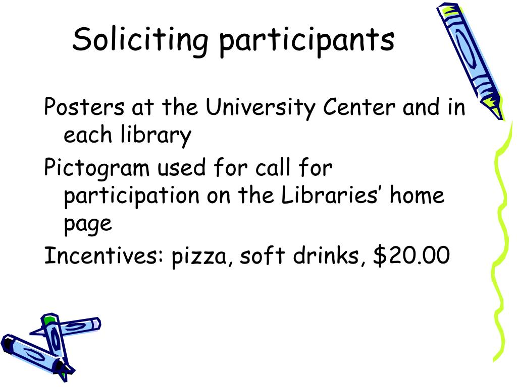 Soliciting participants