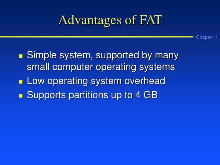 Advantages of FAT