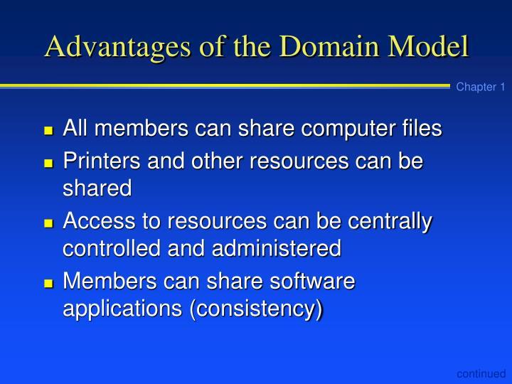 Advantages of the Domain Model
