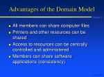 advantages of the domain model
