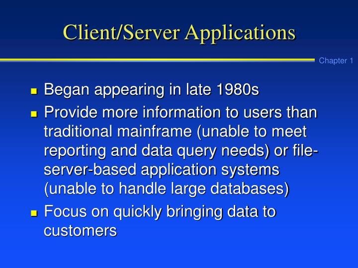 Client/Server Applications