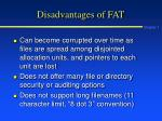 disadvantages of fat