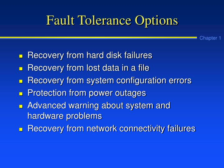 Fault Tolerance Options