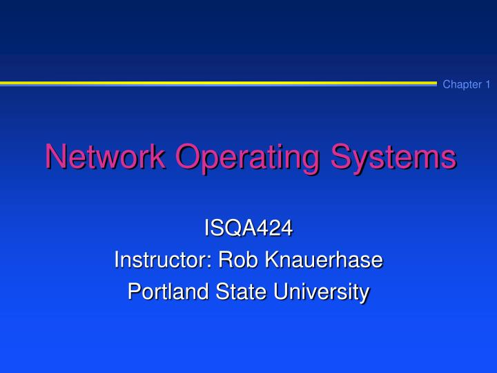 network operating systems n.