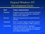 original windows nt development goals