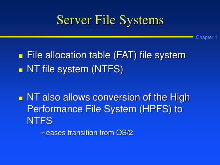 Server File Systems