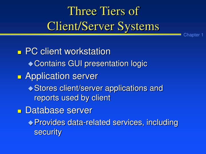 Three Tiers of