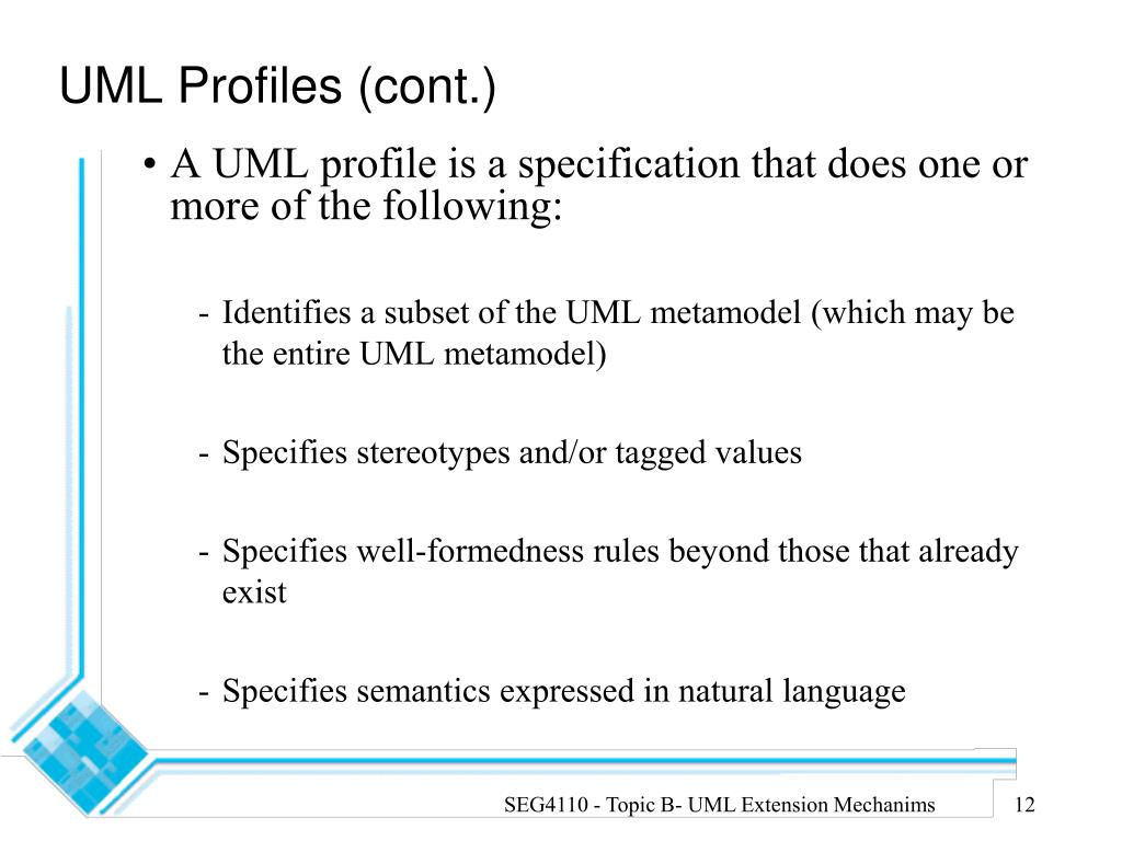 UML Profiles (cont.)
