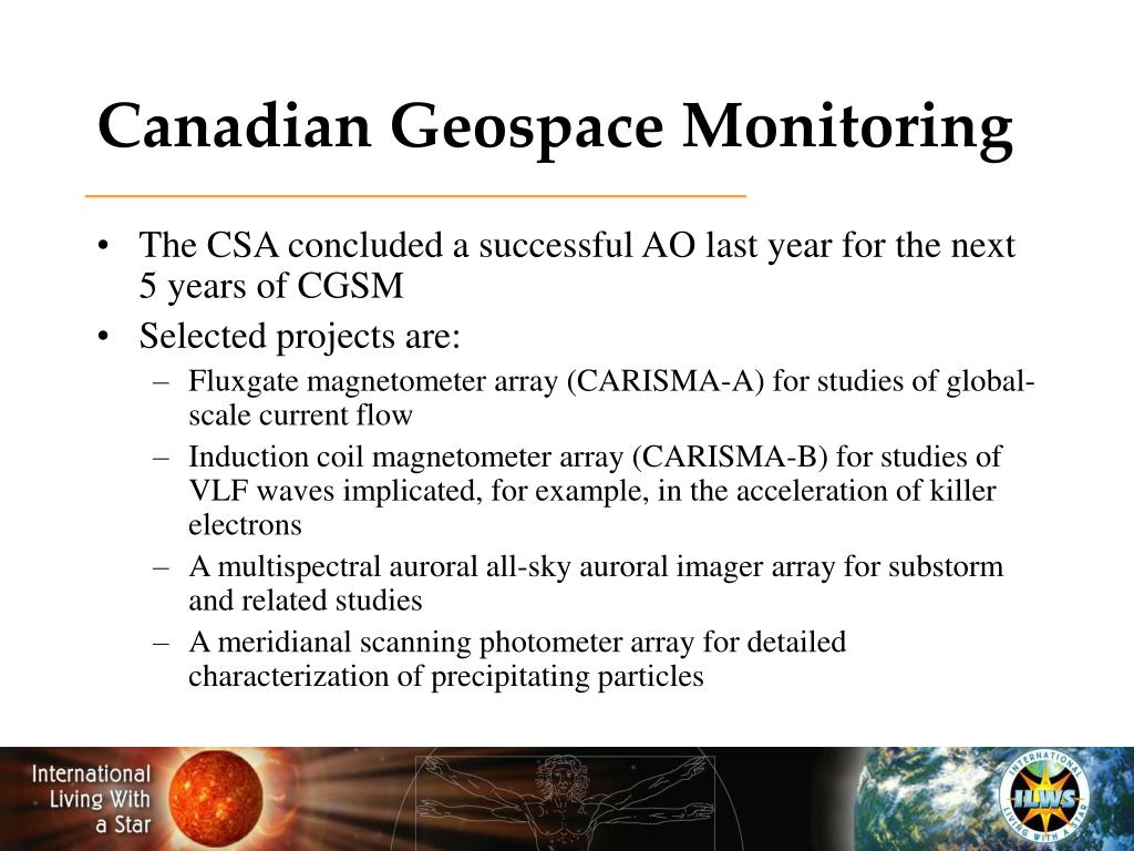 Canadian Geospace Monitoring