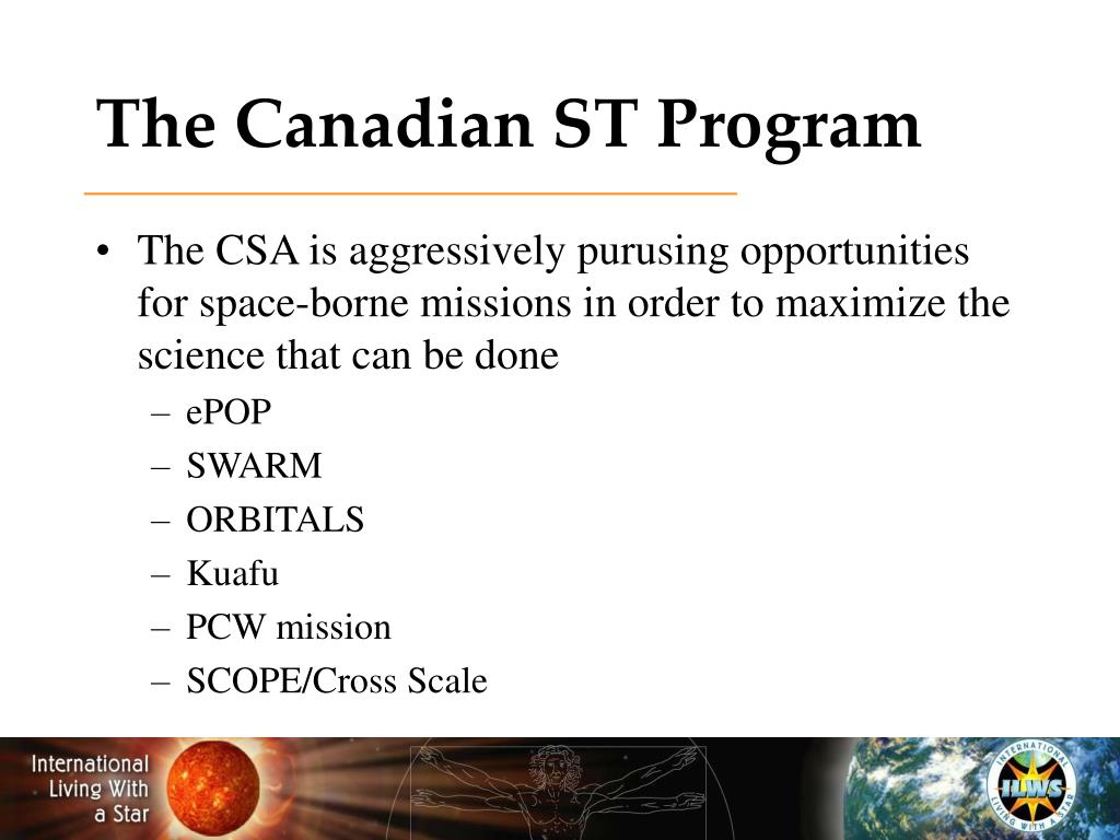 The Canadian ST Program