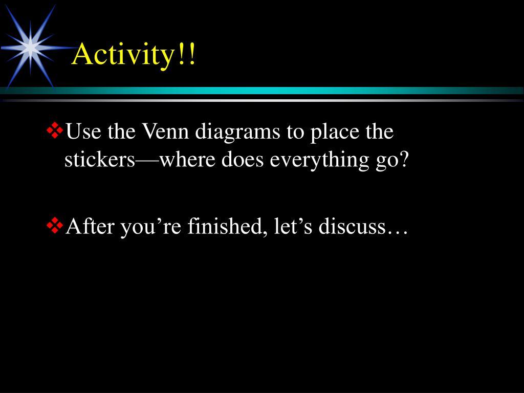 Activity!!