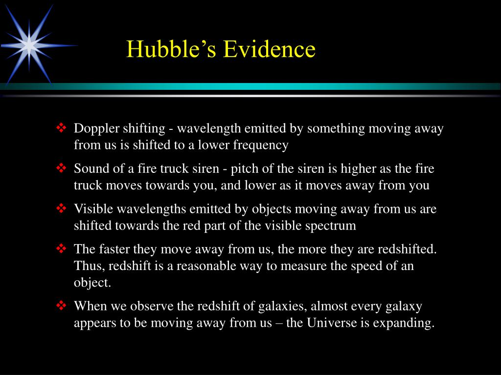 Hubble's Evidence