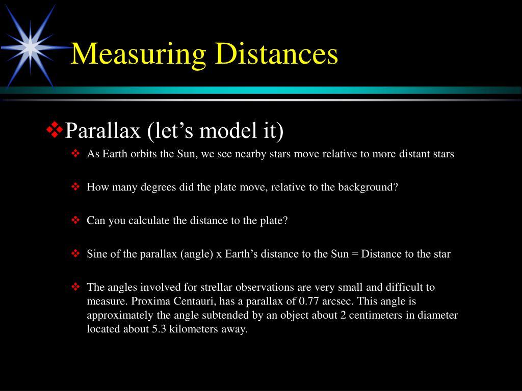 Measuring Distances