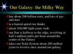 our galaxy the milky way