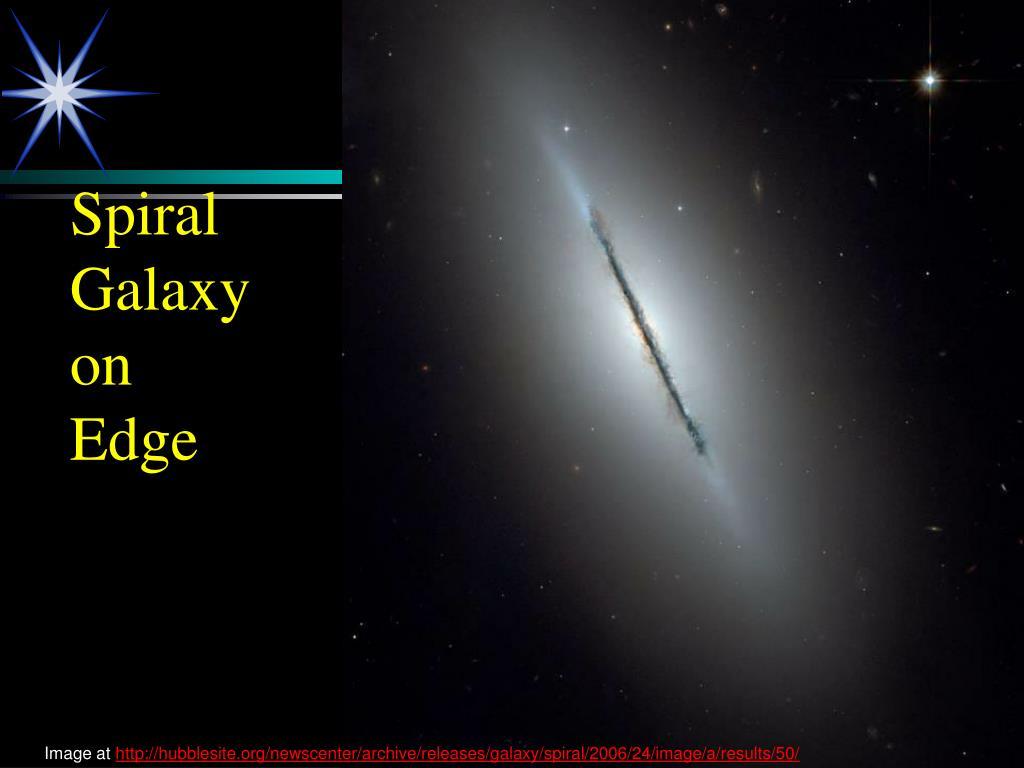Spiral Galaxy on Edge